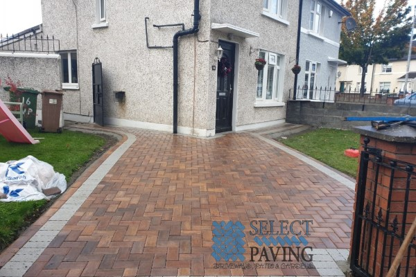 Driveway paving in Clane, Ireland
