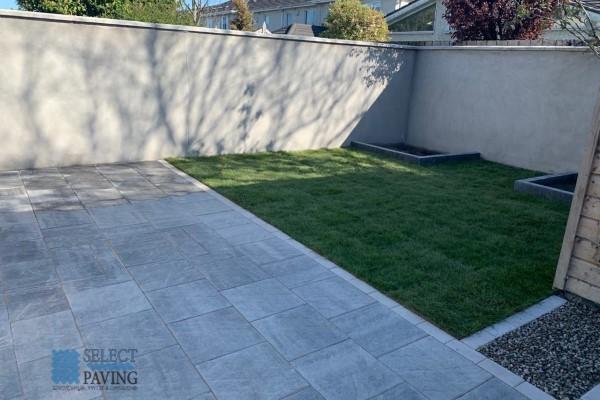 New Patio and Lawn in Newbridge, Ireland